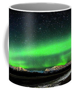Little House Under The Aurora Coffee Mug