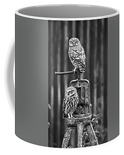 Little Owls Black And White Coffee Mug