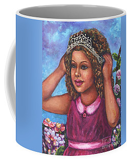 Coffee Mug featuring the painting Little Princess by Alga Washington