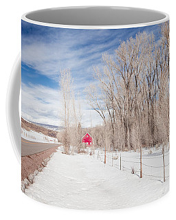 Little Red Barn Coffee Mug by Sean Allen