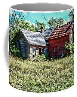 Coffee Mug featuring the photograph Little Red Farmhouse by Paul Ward