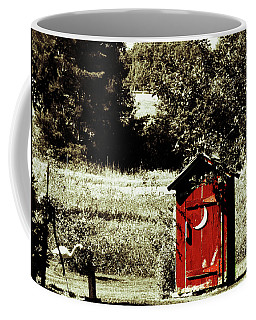 Little Red Outhouse Coffee Mug