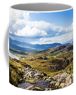 Coffee Mug featuring the photograph Little Stream Running Down The Macgillycuddy's Reeks by Semmick Photo