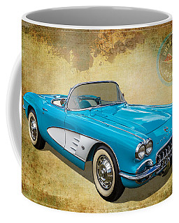 Little Vette Coffee Mug by Keith Hawley