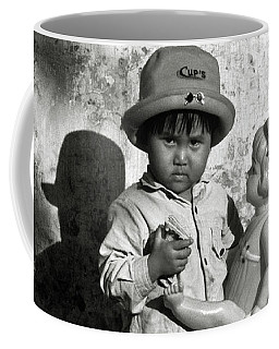 Little Vietnamese Girl Playing With Her Doll Coffee Mug