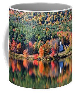 Coffee Mug featuring the photograph 'little White Church', Eaton, Nh by Larry Landolfi