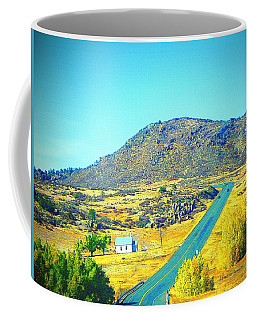 Little White Church In The Vale Coffee Mug by Lenore Senior
