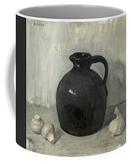 Litttle Brown Jug, Mushrooms And Garlic Coffee Mug