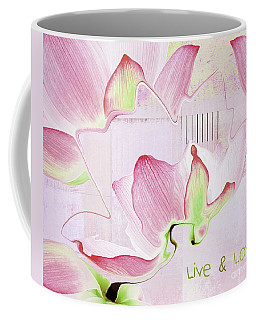 Coffee Mug featuring the digital art Live N Love - Absf17 by Variance Collections
