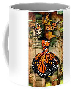 Coffee Mug featuring the mixed media Living A Life With No Boundaries by Marvin Blaine