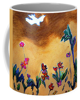 Coffee Mug featuring the painting Living Earth by Winsome Gunning