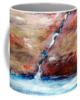 Coffee Mug featuring the painting Living Water by Winsome Gunning
