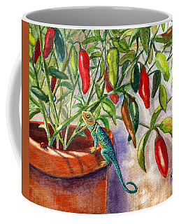 Coffee Mug featuring the painting Lizard In Hot Sauce by Marilyn Smith