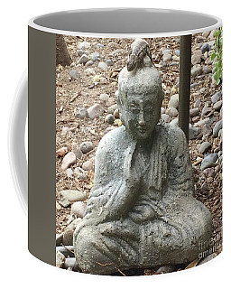 Coffee Mug featuring the painting Lizard Zen by Kim Nelson