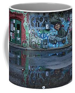 Coffee Mug featuring the photograph Ljubljana Graffiti Reflections #3 - Slovenia by Stuart Litoff