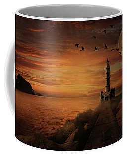 Llight House By Moonlight Coffee Mug