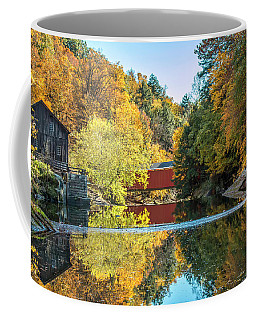 Mcconnell's Mill And Covered Bridge Coffee Mug by Skip Tribby