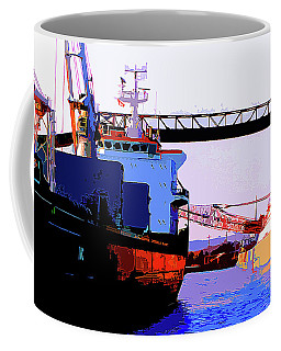 Loading The Iron Ore On The Great Lakes Freighters Coffee Mug