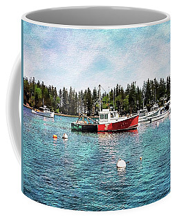 Coffee Mug featuring the digital art Lobster By Night - Sleep By Day - Camden Maine by Joseph Hendrix
