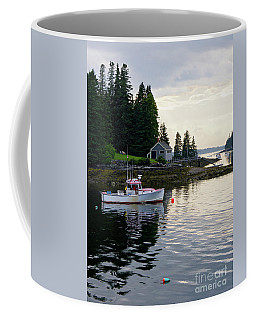 Lobster Boat And Clearing Skies, Port Clyde, Maine #30806 Coffee Mug