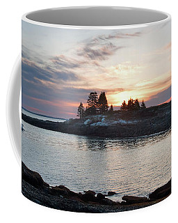 Lobster Boat At Dawn, New Harbor, Maine #8200-8203 Coffee Mug