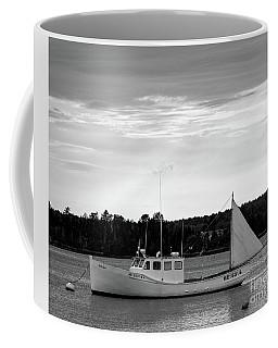 Lobster Boat, Cundys Harbor #64721-bw Coffee Mug
