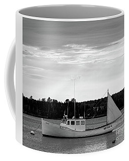 Lobster Boat, Cundys Harbor #64721-bw Coffee Mug
