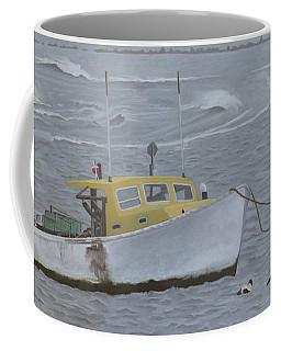 Lobster Boat In Kettle Cove Coffee Mug
