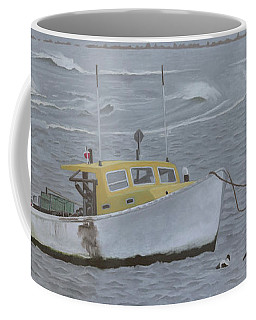 Lobster Boat In Kettle Cove Coffee Mug