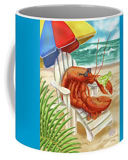 Lobster Drinking A Margarita Coffee Mug