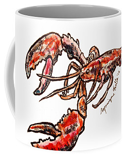 Coffee Mug featuring the painting Lobster by Monique Faella