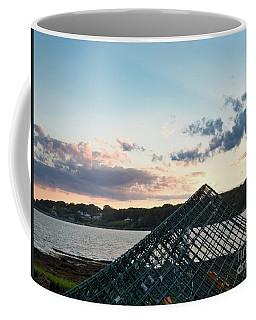 Lobster Trap At Dusk, Bailey Island, Harpswell, Maine #252412-14 Coffee Mug