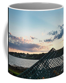 Lobster Trap At Dusk, Bailey Island, Harpswell, Maine #252412-14 Coffee Mug
