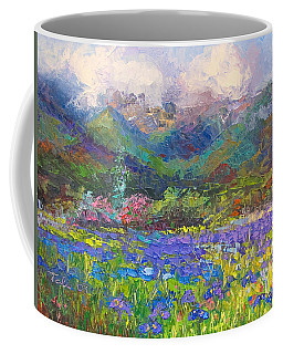 Coffee Mug featuring the painting Local Color by Talya Johnson