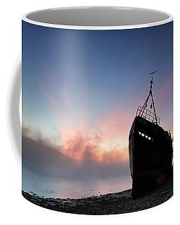Coffee Mug featuring the photograph Loch Linnhe Misty Shipwreck by Grant Glendinning