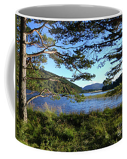 Coffee Mug featuring the photograph Loch Pityoulish - Autumn Evening by Phil Banks