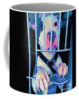 Coffee Mug featuring the digital art Locked Up by Kathy Tarochione