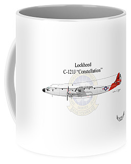 Lockheed C-121j Constellation Coffee Mug by Arthur Eggers