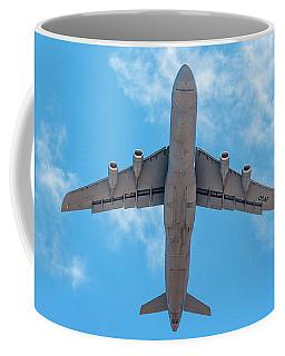 Coffee Mug featuring the photograph Lockheed Martin C5 Galaxy Overhead by SR Green