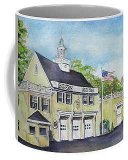 Coffee Mug featuring the painting Locust Valley Firehouse by Susan Herbst