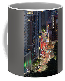 Coffee Mug featuring the photograph Loews, Tremont St. by Michael Hubley