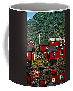 Lofoten Fishing Huts Coffee Mug by Steve Harrington