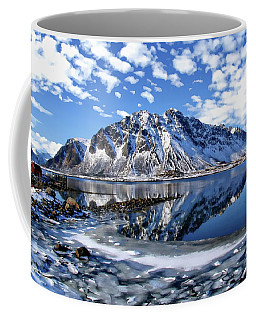Lofoten Winter Scene Coffee Mug