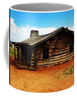 Coffee Mug featuring the photograph Log Cabin Yr 1800 by Joseph Frank Baraba