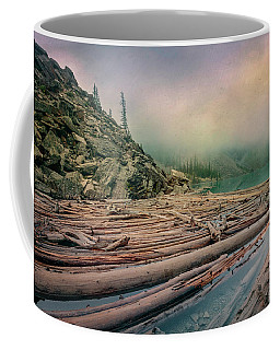 Log Jam At Moraine Lake Banff National Park Canada Coffee Mug