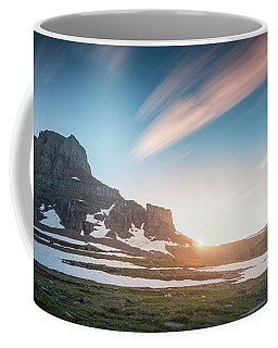 Coffee Mug featuring the photograph Logan Pass Sunset With Long Exposure by William Lee