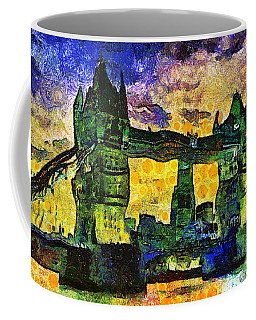 Coffee Mug featuring the digital art London Bridge by Ian Mitchell