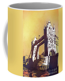 Coffee Mug featuring the painting London Bridge- Uk by Ryan Fox