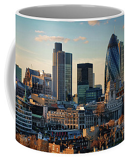Coffee Mug featuring the photograph London City Of Contrasts by Lois Bryan