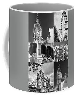 London Collage Bw Coffee Mug
